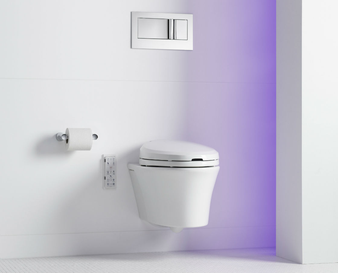 KOHLER Veil Wall Hung Toilet Saves Space With A Modern Design