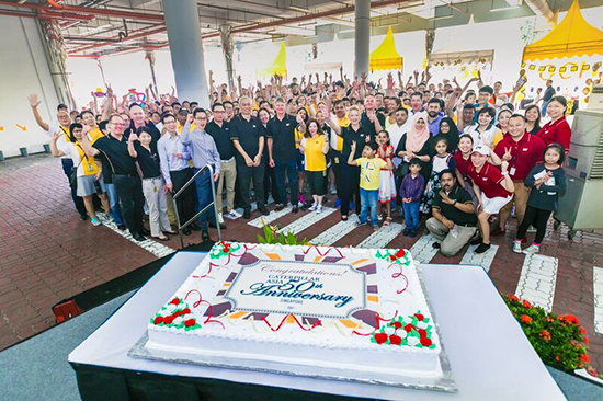 Caterpillar Cake Cutting With Employees