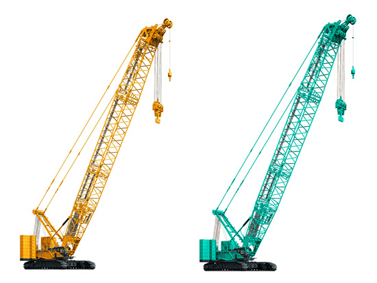 Kobelco crawler cranes for various tasks and heavy lifting